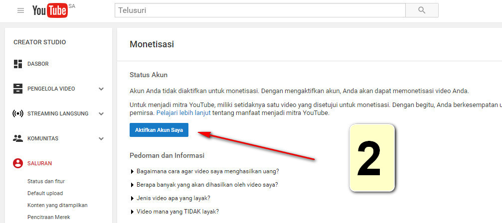 daftar adsense youtube
