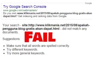 Memperbaiki Kesalahan Saat Menggun akan Fetch AS Google