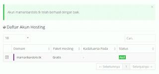 hosting gratis idhostinger
