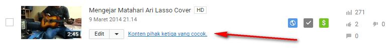 monetize cover lagu dari pihak ketiga youtube