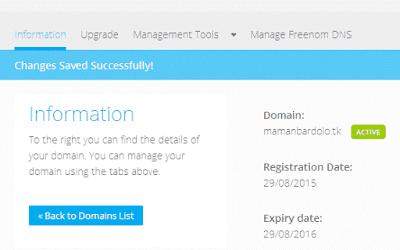 seting name server idhostinger di freenom