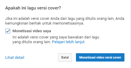 video versi cover youtube