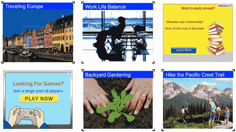 format gambar yang menyerupai iklan
