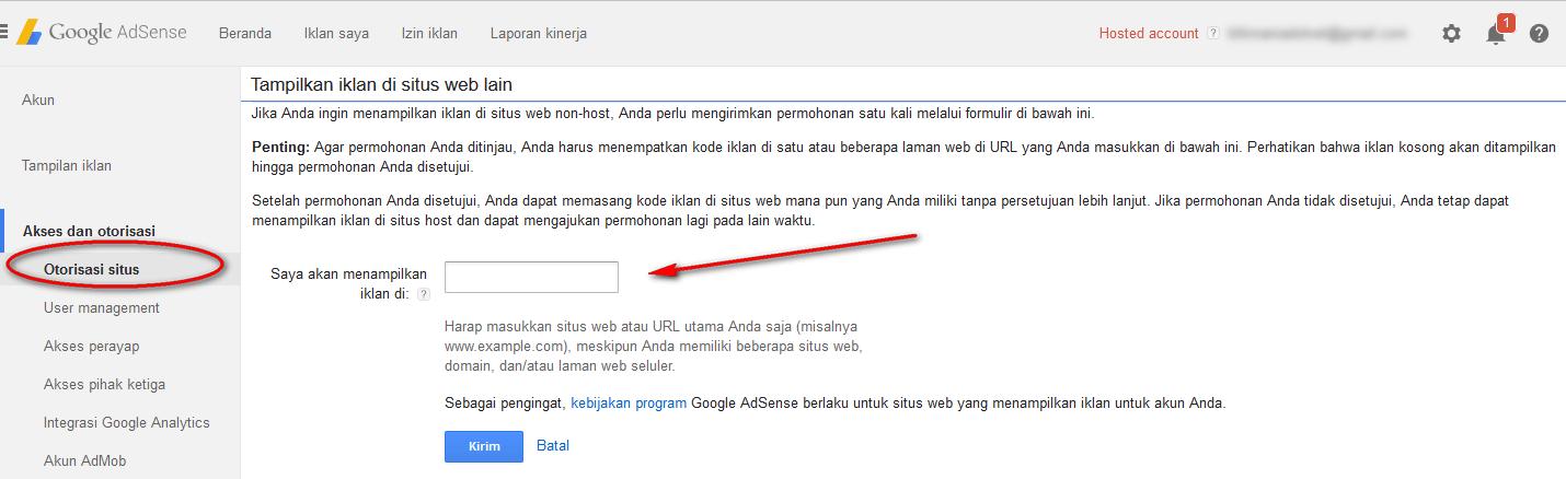 upgrade adsense hosted ke non hosted