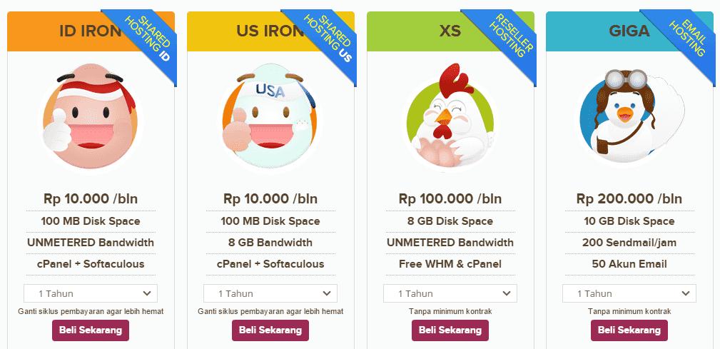 wordpress self hosting murah