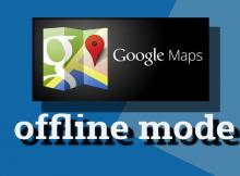 menggunakan google maps offline