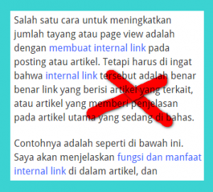membuat internal link