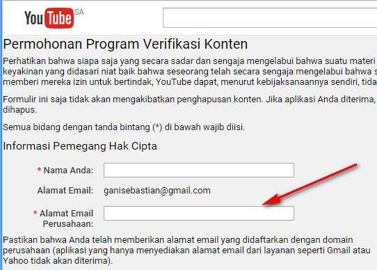 Menggunakan Content ID Youtube