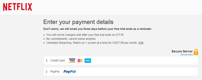 cara pembayaran netflix