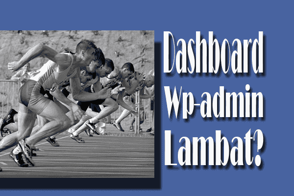 Penyebab Dashboard Wp-admin WordPress Lambat