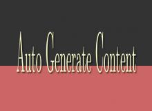 Auto generate content