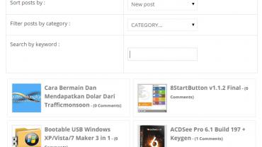membuat daftar isi blog