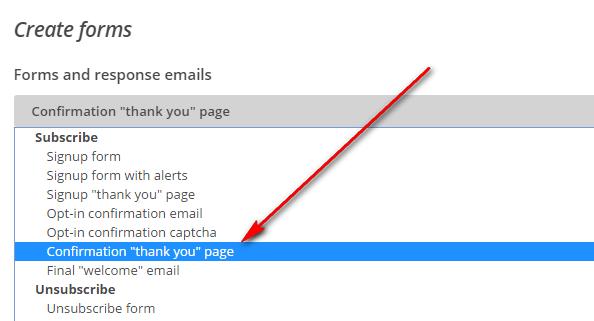 menggunakan mailchimp