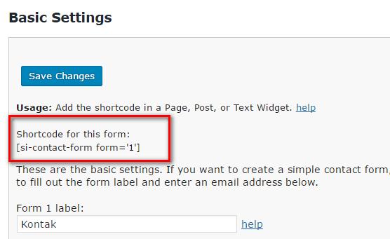 membuat contact form