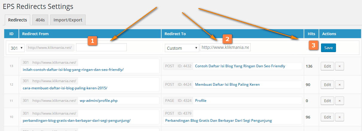 Membuat redirect