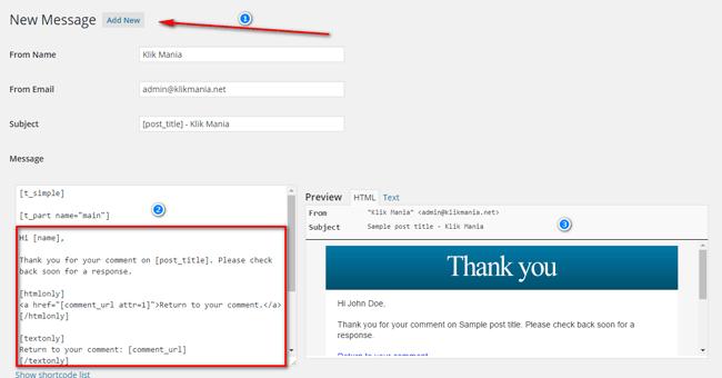 Ucapan Terimakasih Otomatis Melalui Email
