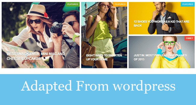 Wordpress converted Blogger templates