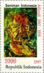 Affandi_1997_Indonesia_stamp
