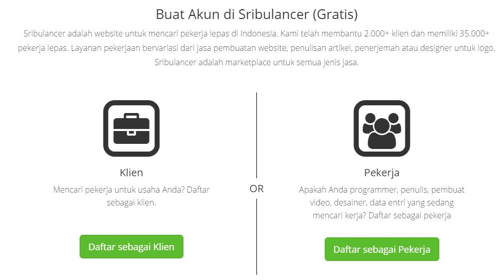 menjadi freelancer di Sribulancer