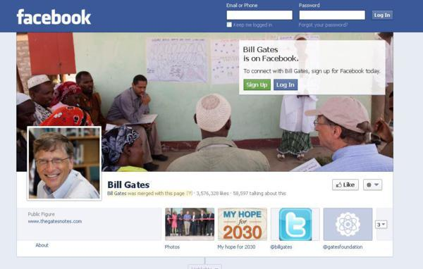 bill gates and facebook