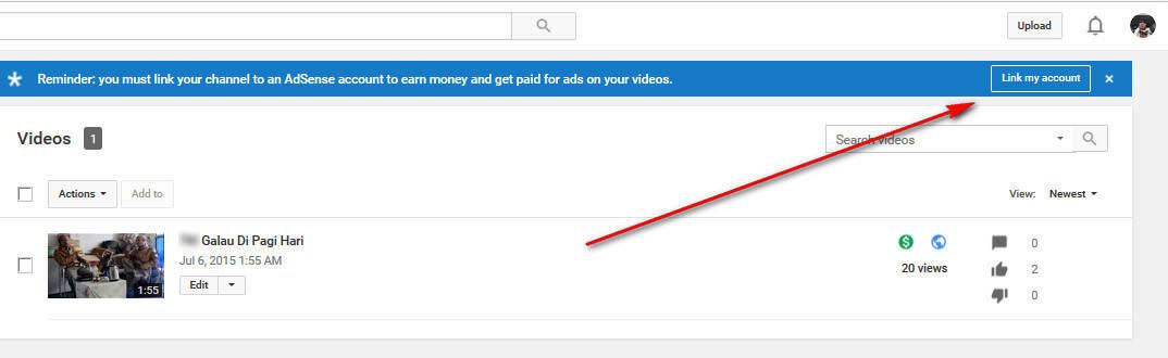 akun adsense youtube