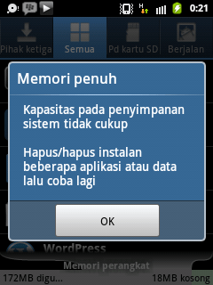 android memori penuh