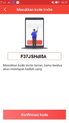 invite kode di aplikasi baca plus