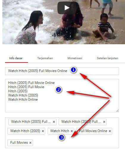 membuat tag video youtube