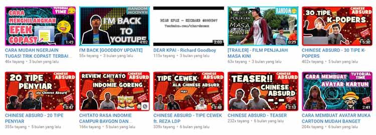kualitas Channel youtube