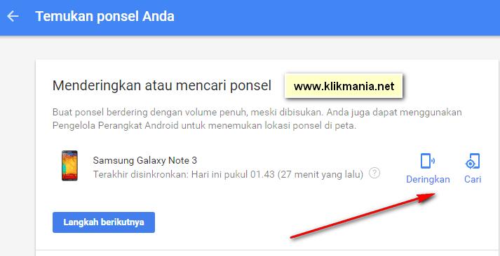 menemukan ponsel Android