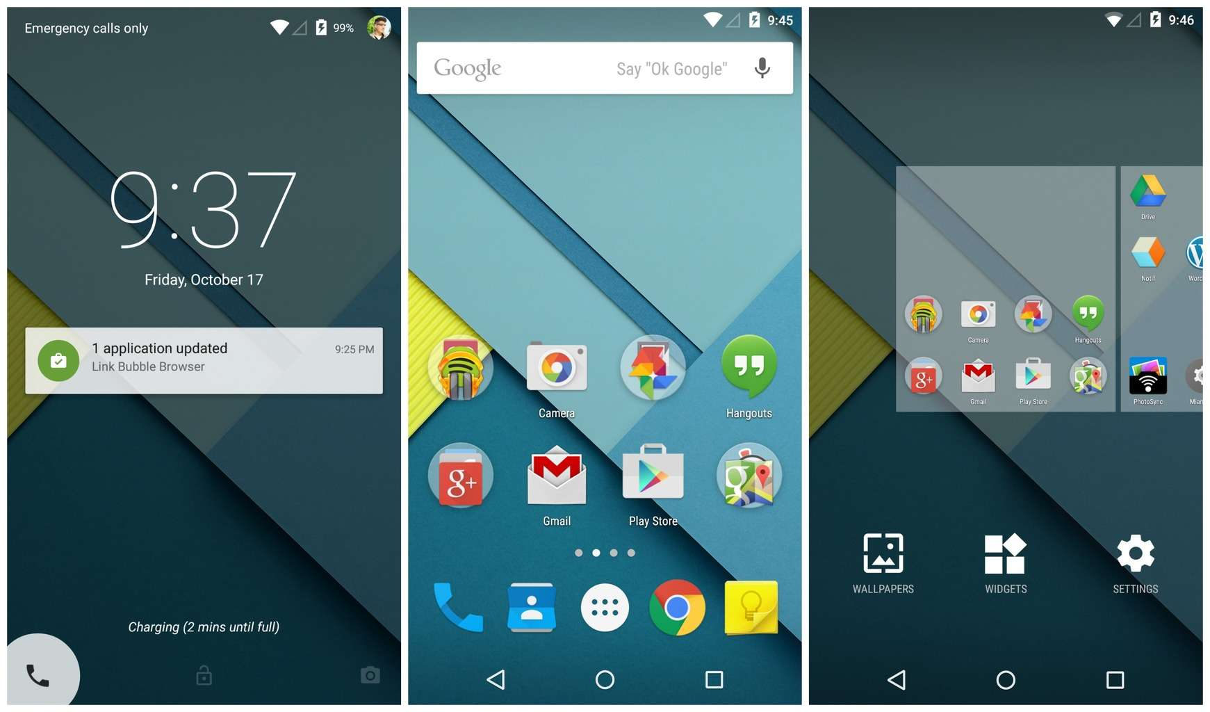 Android-5.0-Lollipop interface