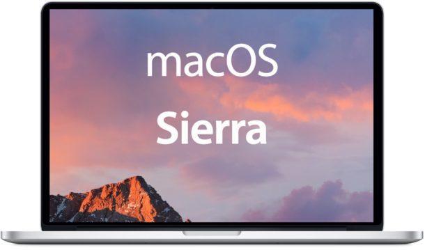 Mac OS Sierra
