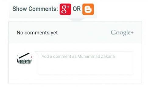 Menampilkan Komentar Google Plus