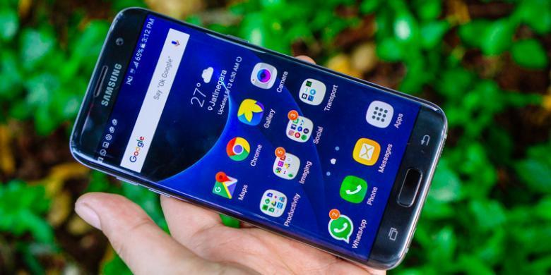 Samsung Galaxy S7 Edge Tampak Depan ( Foto : Oky Yusuf/Kompas.com)