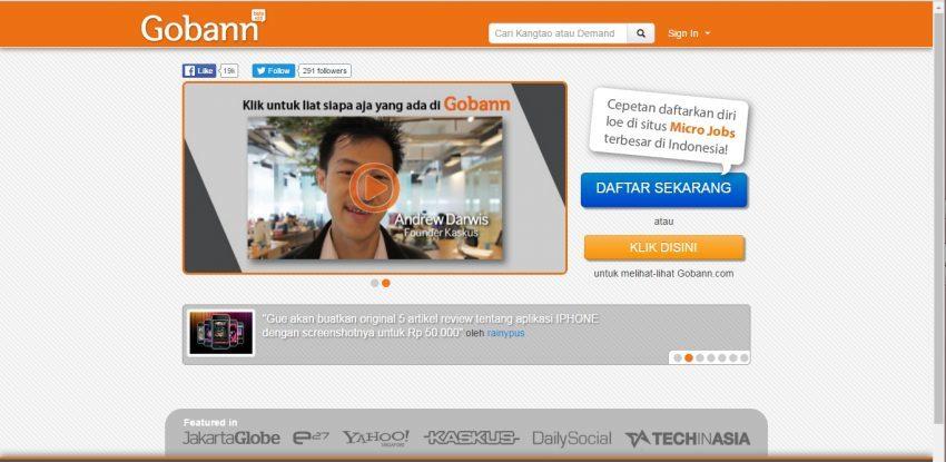 Mendapatkan Tambahan Penghasilan dar Situs Micro Jobs Pertama - Gobann.com