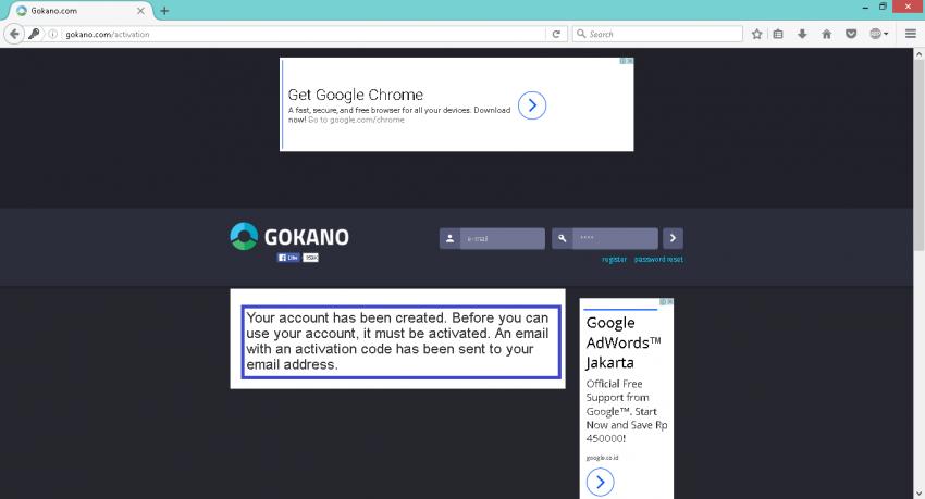 Verif email Gokano