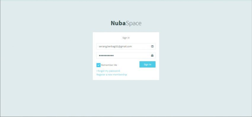 nubaspace login