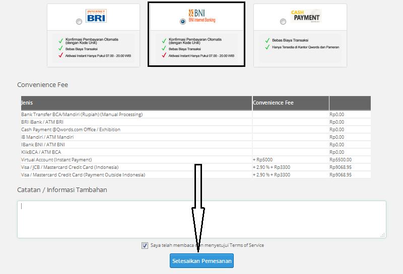 Konfirmasi pembayaran domain murah