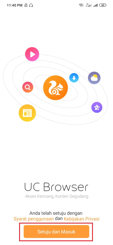 menggunakan aplikasi uc browser