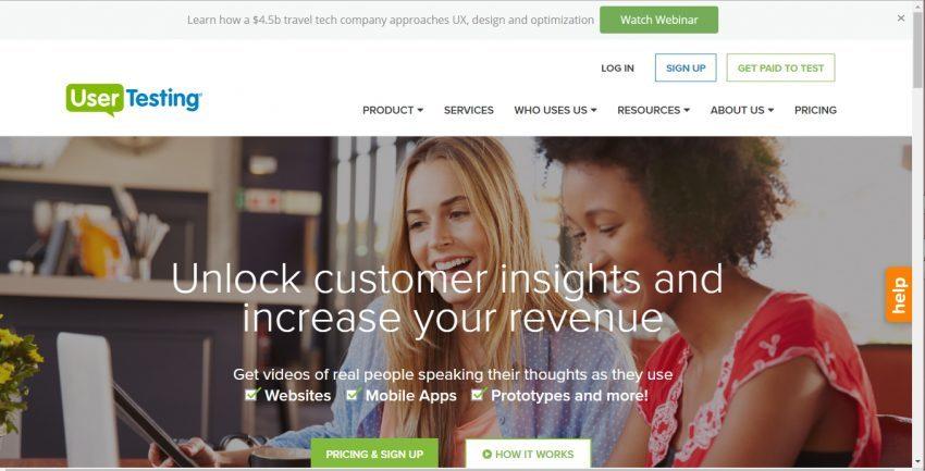 Mendapatkan Tambahan Penghasilan dari Situs Micro Jobs Ketiga - Usertesting.com