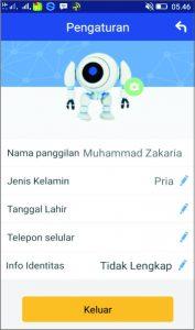 edit profil wifi share