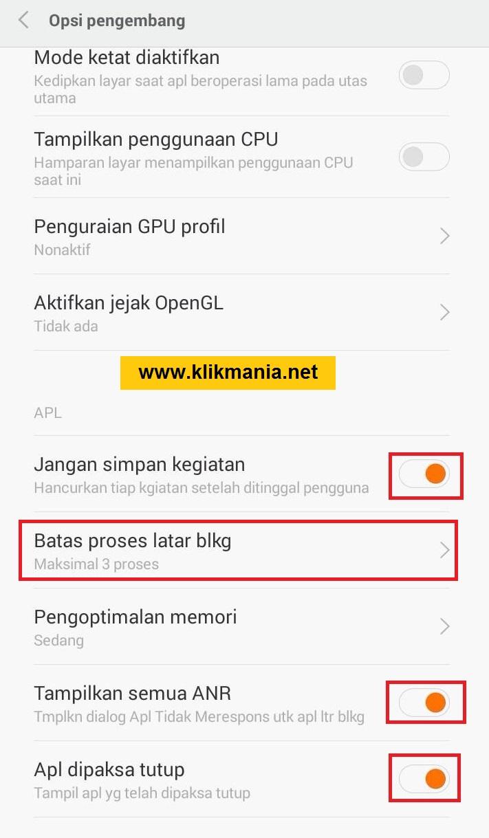 Kegunaan dan Fungsi Opsi Pengembang di Android