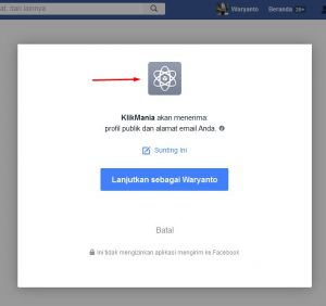 facebook app verifikasi