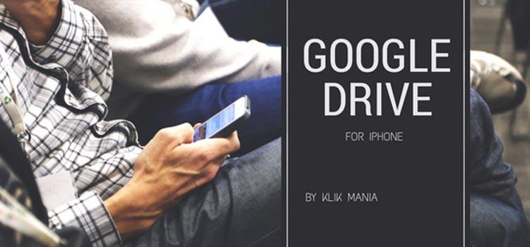Menggunakan Google Drive di iphone