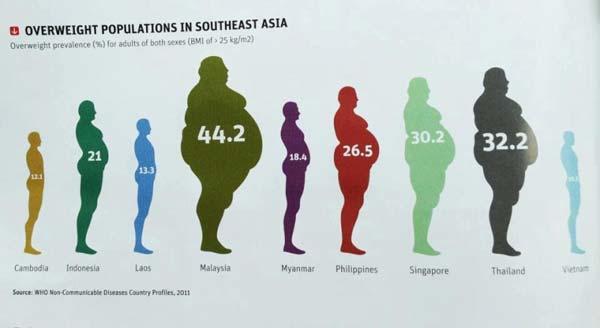 Tingkat Obesitas Asia Tenggara