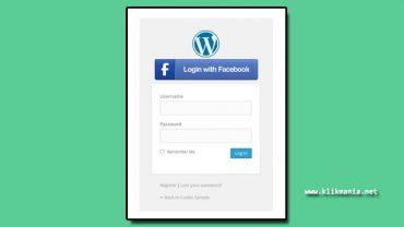 register login facebook di wordpress