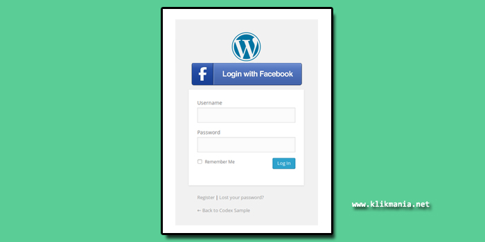 register login facebook di wordpress