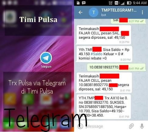 transaksi pulsa melalui telegram