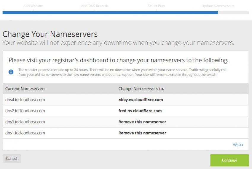 Merubah nameservers domain