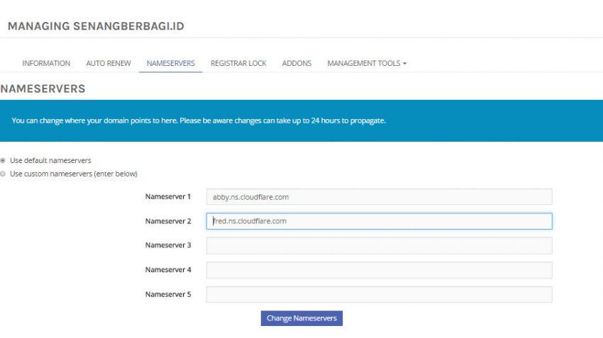 Nameservers domain Terbaru